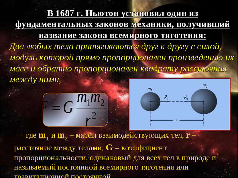 В 1687 г. Ньютон установил один из фундаментальных законов механики, получивш...