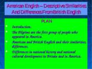 American English – Descriptive Similarities And Differences From British English