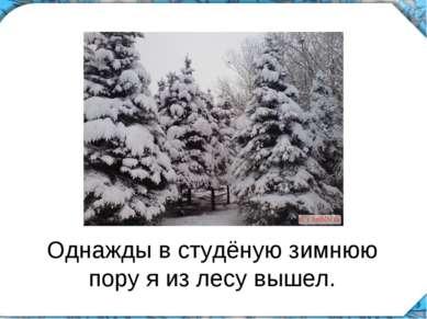 Однажды в студёную зимнюю пору я из лесу вышел.