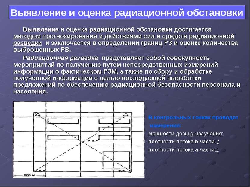 Выявление и оценка радиационной обстановки достигается методом прогнозировани...