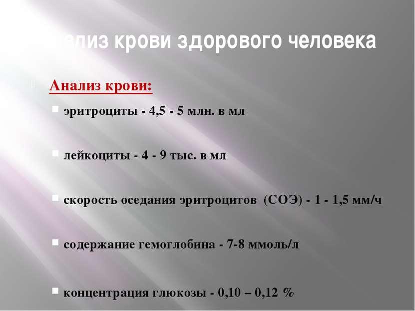 Изучив показания анализа крови, определите состояние здоровья пациента 1 Комп...