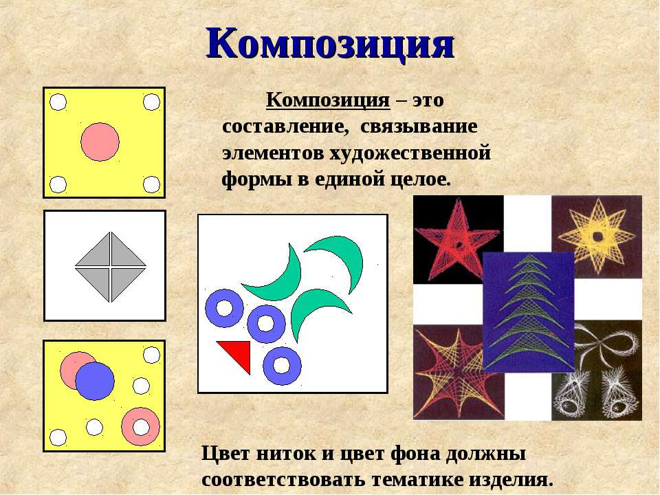 Композиция Композиция – это составление, связывание элементов художественной ...