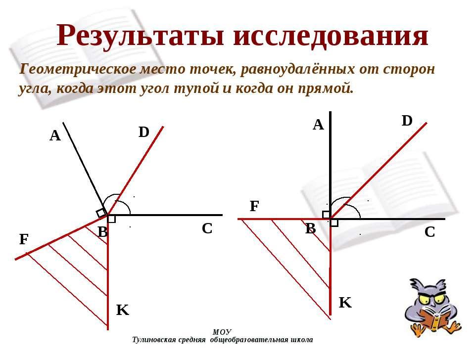 МОУ Тулиновская средняя общеобразовательная школа Результаты исследования Гео...