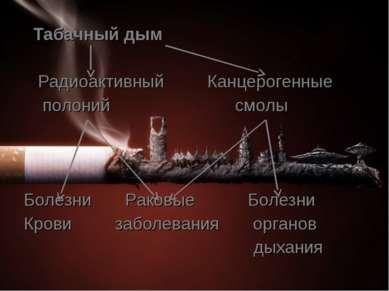 Табачный дым Радиоактивный Канцерогенные полоний смолы Болезни Раковые Болезн...