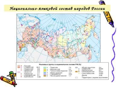 Национально-языковой состав народов России