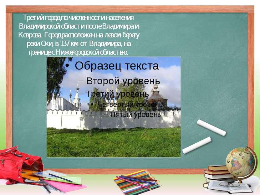 Третий город по численности населения Владимирской области после Владимира и ...