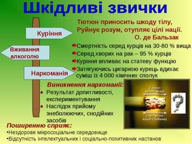 Тютюн приносить шкоду тілу, Руйнує розум, отупляє цілі нації. О. де Бальзак С...