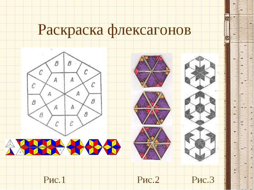Раскраска флексагонов Рис.1 Рис.2 Рис.3