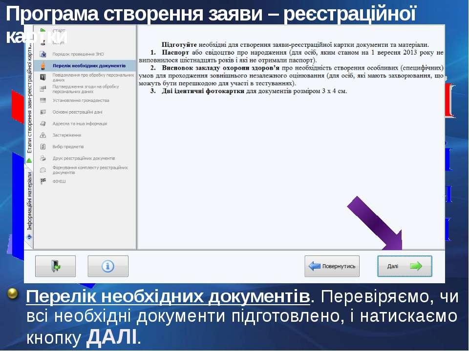 Перелік необхідних документів. Перевіряємо, чи всі необхідні документи підгот...