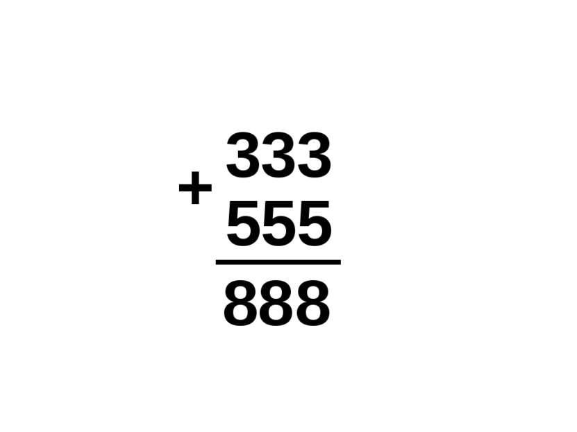 333 555 8 8 8 +
