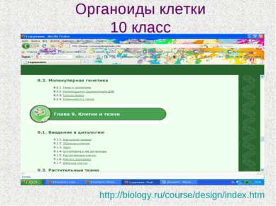 Органоиды клетки 10 класс http://biology.ru/course/design/index.htm