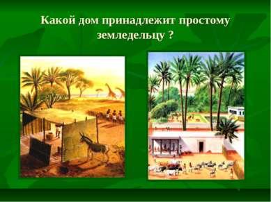 Какой дом принадлежит простому земледельцу ?