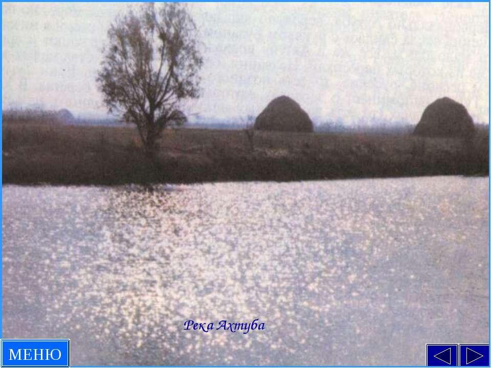 Река Ахтуба МЕНЮ