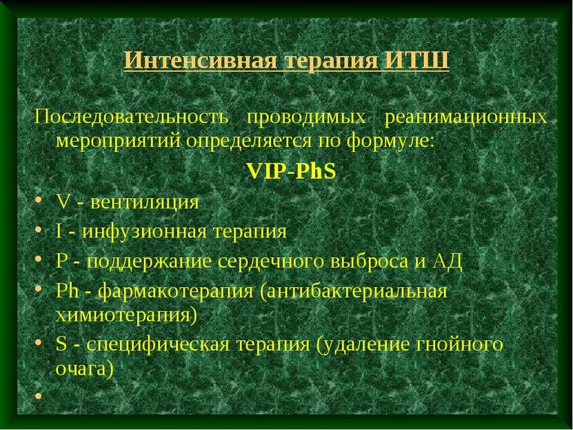 Интенсивная терапия ИТШ Последовательность проводимых реанимационных мероприя...