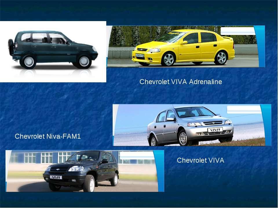 Chevrolet VIVA Adrenaline Chevrolet Niva-FAM1 Chevrolet VIVA