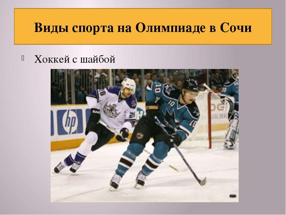 Хоккей с шайбой Виды спорта на Олимпиаде в Сочи