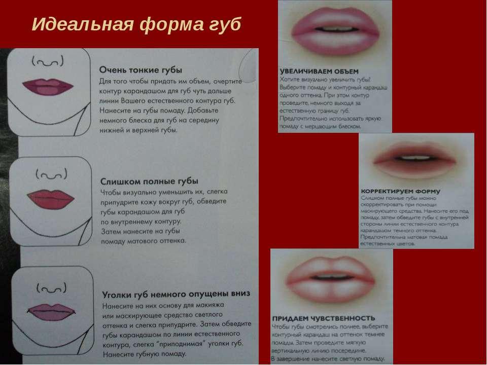 Схема увеличения губ