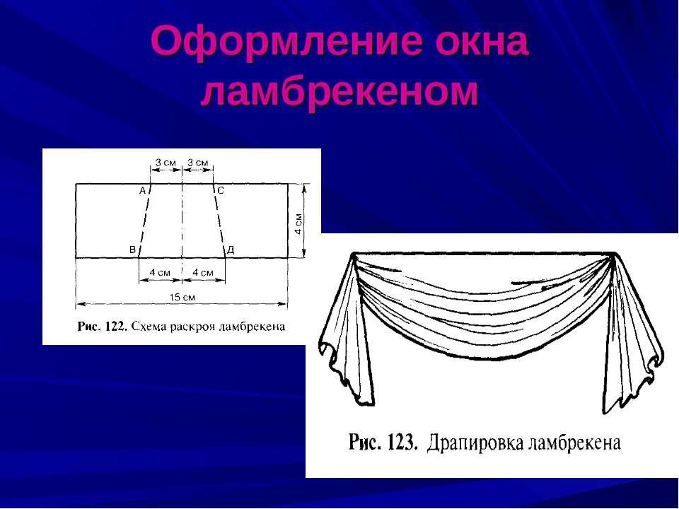 Оформление окна ламбрекеном