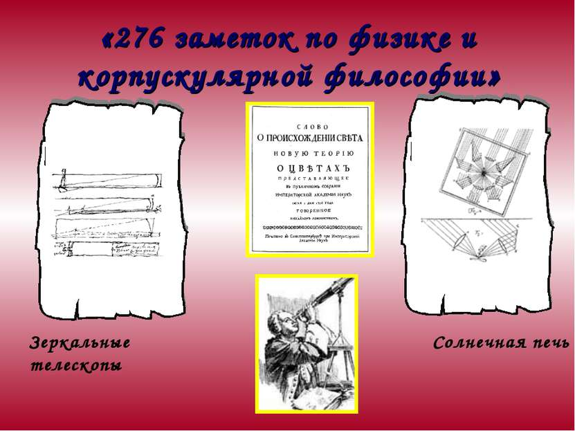 «276 заметок по физике и корпускулярной философии» Солнечная печь Зеркальные ...