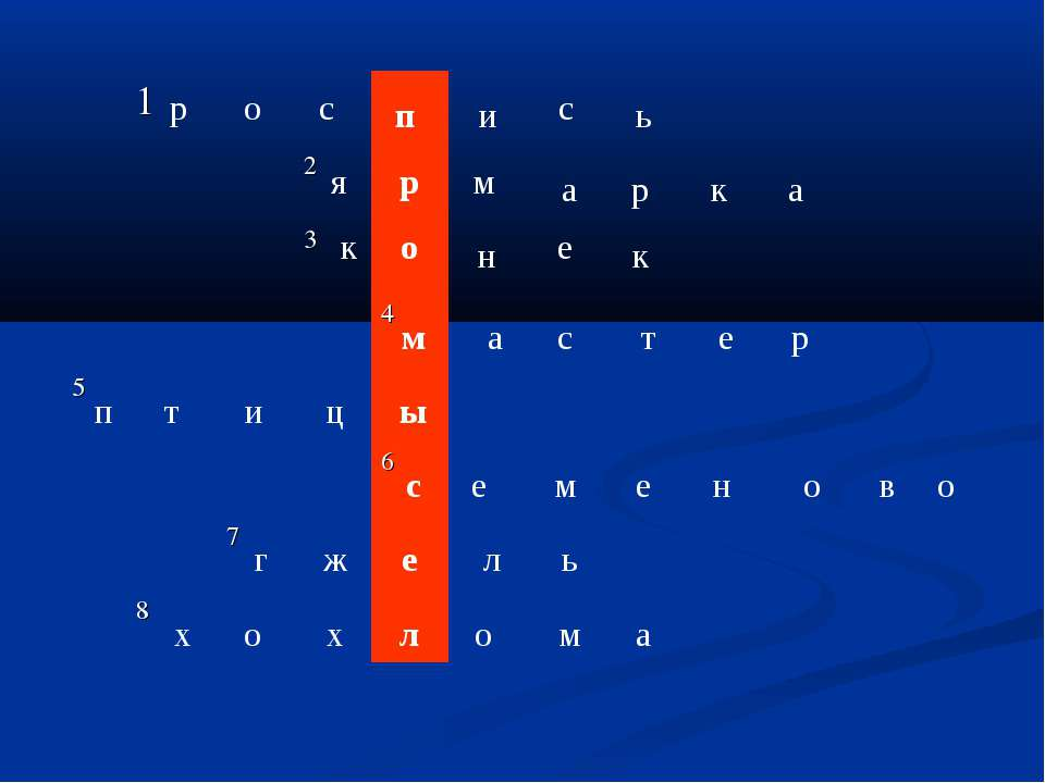 р о с п и с ь я р м а р к а к н е к о м а с т е р п т и ц ы с е м е н о в о г...