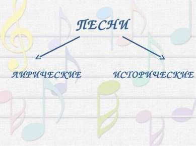 ПЕСНИ ЛИРИЧЕСКИЕ ИСТОРИЧЕСКИЕ