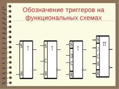 Обозначение триггеров на функциональных схемах