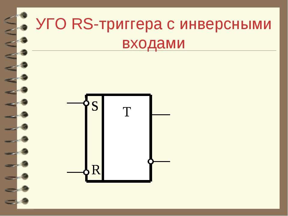 УГО RS-триггера с инверсными входами