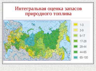 Интегральная оценка запасов природного топлива