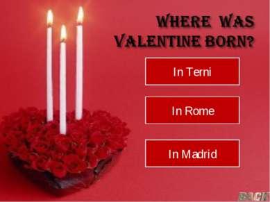 In Terni In Rome In Madrid
