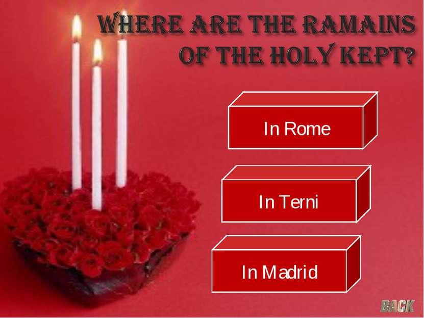 In Rome In Terni In Madrid