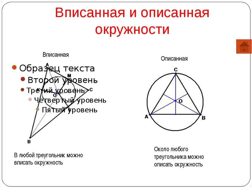 Вписанная и описанная окружности