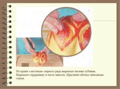 По краям «листиков» первого ряда вырежьте мелкие зубчики. Вырежьте сердцевину...