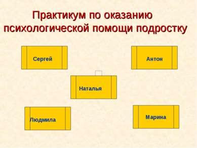 Практикум по оказанию психологической помощи подростку Марина Антон Наталья С...