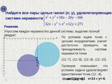 Решение. x-11 Упростим каждое неравенство данной системы, выделив полный квад...
