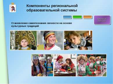 Компоненты региональной образовательной системы Креативный компонент Становле...