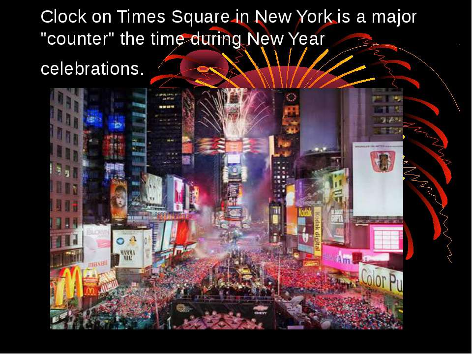 "Clock on Times Square in New York is a major ""counter"" the time during New Ye..."