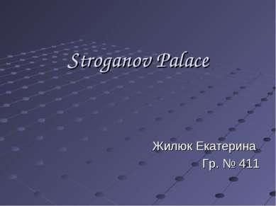 Stroganov Palace Жилюк Екатерина Гр. № 411