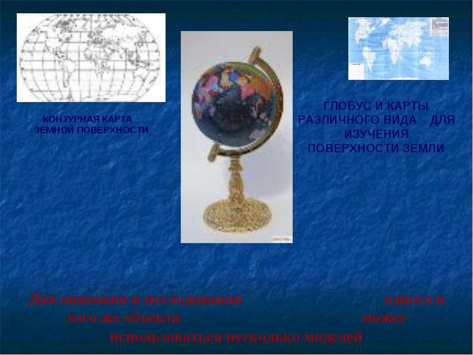 Для описания и исследования одного и того же объекта может использоваться нес...