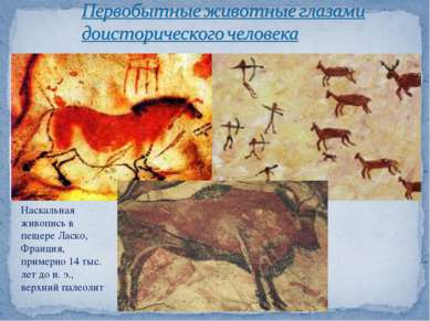Наскальная живопись в пещере Ласко, Франция, примерно 14 тыс. лет до н.э., в...