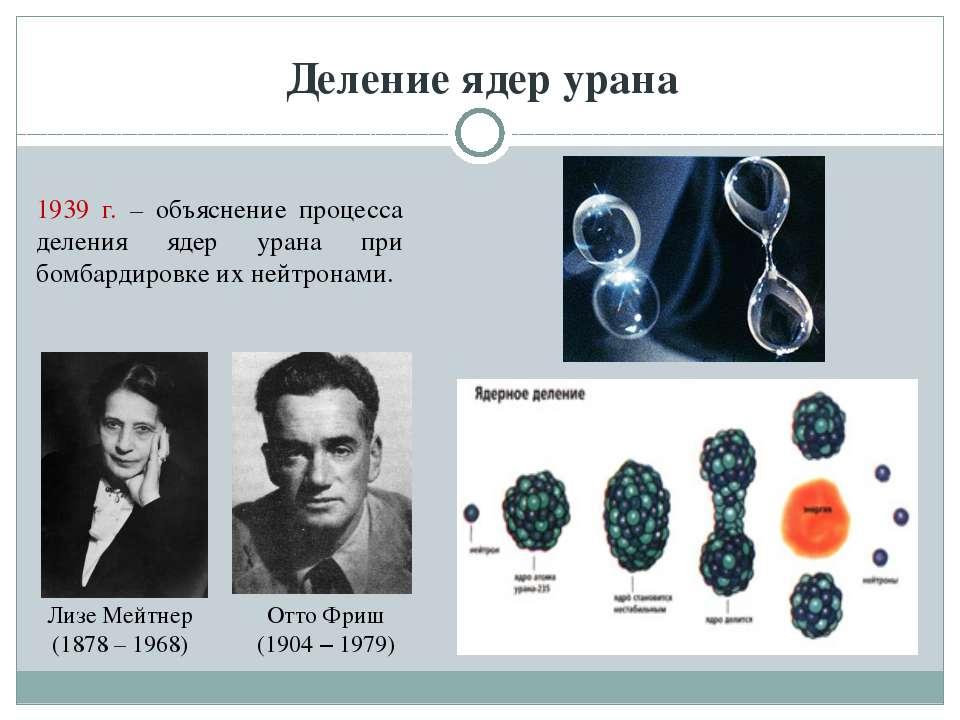 Деление ядер урана Лизе