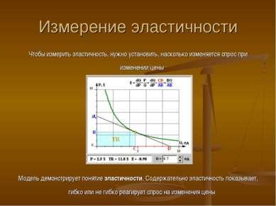 Измерение эластичности Чтобы измерить эластичность, нужно установить, насколь...