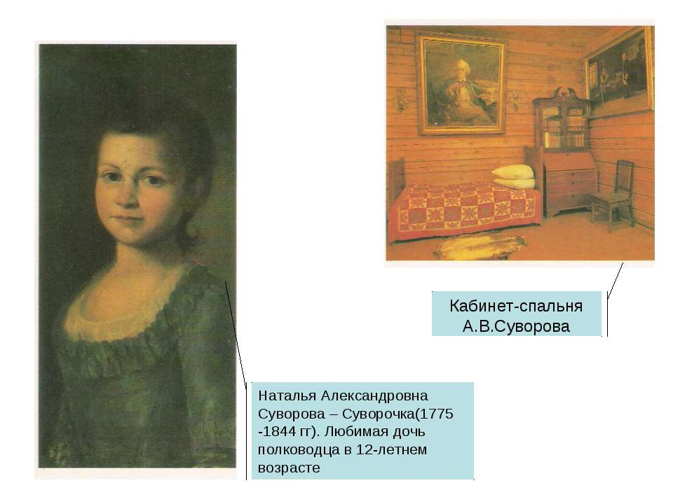 Наталья Александровна Суворова – Суворочка(1775 -1844 гг). Любимая дочь полко...