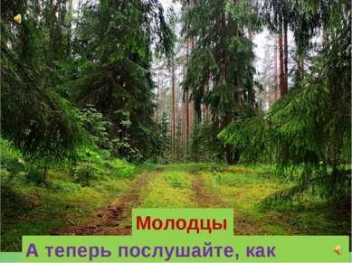Молодцы! А теперь послушайте, как звучит лес!