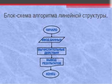 Блок-схема алгоритма линейной структуры.