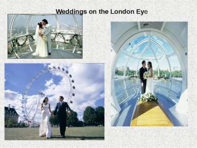 Weddings on the London Eye
