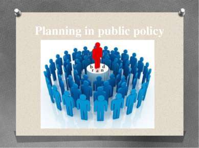 Planning in public policy