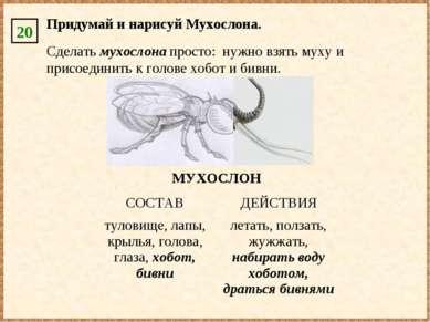 Придумай и нарисуй Мухослона. 20 Сделать мухослона просто: нужно взять муху и...