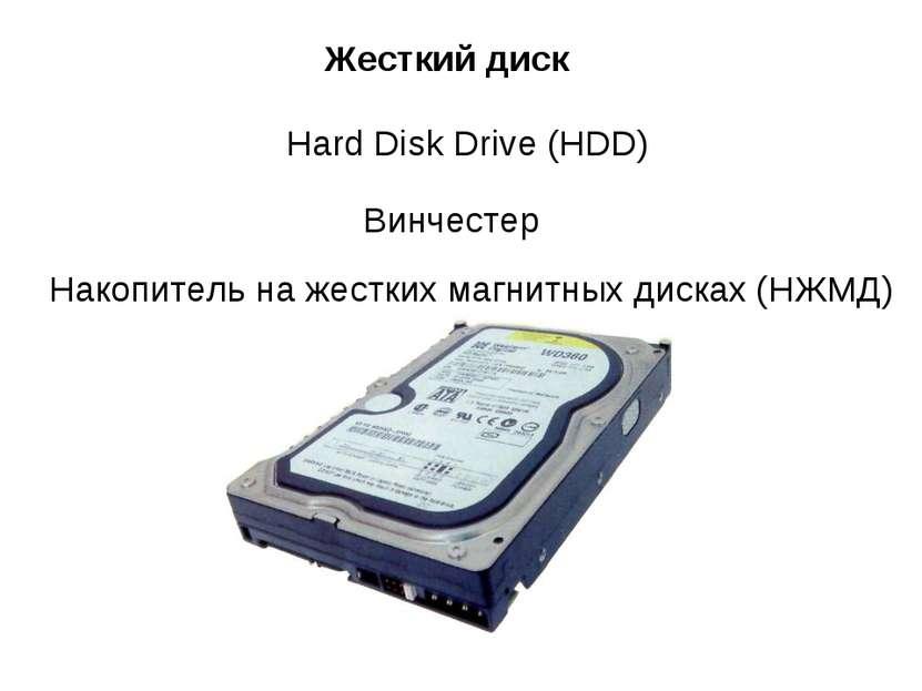Жесткий диск Hard Disk Drive (HDD) Винчестер Накопитель на жестких магнитных ...