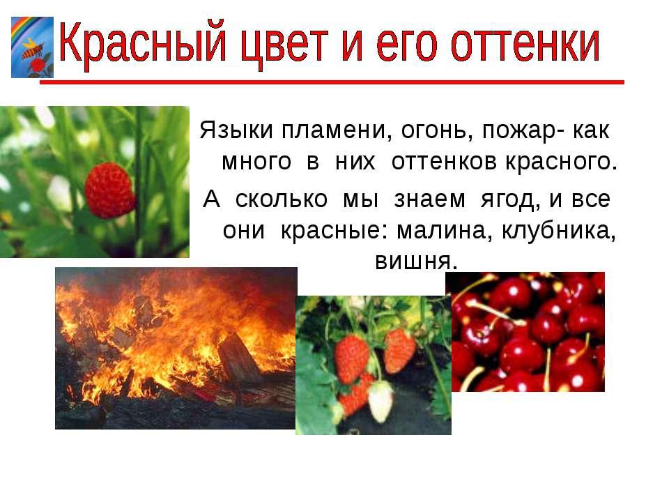 Языки пламени, огонь, пожар- как много в них оттенков красного. А сколько мы ...