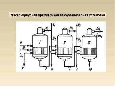 Многокорпусная прямоточная вакуум-выпарная установка